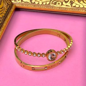NEW - Gold Cuff Bracelet, Stainless Steel